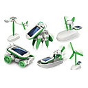 cheap Robots-6 In 1 Robot Toy Cars Solar Powered Toys Space Toys Science & Discovery Toys Toys Solar Powered ABS Plastic Pieces Boys' Girls' Gift