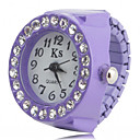 hesapli Yüzük Saat-Kadın's Yüzük Saat Bilek Saati Japonca Quartz imitasyon Pırlanta Plastic Bant Işıltılı Moda Siyah / Beyaz / Pembe - Siyah Mor Pembe Bir yıl Pil Ömrü / SSUO SR626SW