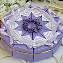 hesapli Pasta Kutuları-Piramit İnci Kağıdı Favor Tutucu ile Kurdeleler Çiçekli Hediye Kutuları