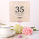 hesapli Yer Kartları ve Tutacakları-Çiçekli Malzeme İnci Kağıdı Kart Tutucuları Masa Numara Kartları Diğerleri Düğün Poli Çanta
