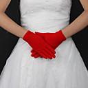 preiswerte Handschuhe für die Party-Seide / Polyester Handgelenk-Länge Handschuh Klassisch / Brauthandschuhe Mit Einfarbig