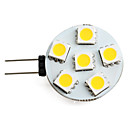 cheap LED Bi-pin Lights-1.5 W 150 lm G4 LED Spotlight 6 LED Beads SMD 5050 Warm White 12 V / #