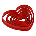cheap Kitchen Cleaning Supplies-Bakeware tools Plastic Eco-friendly / Valentine's Day / DIY For Cake / For Cookie / For Pie Mold 6pcs