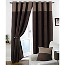 cheap Blackout Curtains-Rod Pocket Grommet Top Tab Top Double Pleat Two Panels Curtain Modern Solid Bedroom 100% Polyester Polyester Material Curtains Drapes