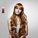 billige Trykk-Syntetiske parykker Dame Krøllet Brun Lagvis frisyre Syntetisk hår 28 tommers Foss Brun Parykk Lang Helblonde / Lokkløs #350 Bleik Blond #25