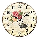 رخيصةأون ساعات حائط روستيك-ساعة حائط بلد الزهور