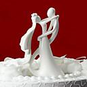 hesapli Duvar Çıkartmaları-Pasta Üstü Figürler Klasik Tema Klasik Çift Seramik Düğün Çeyiz Görme ile Hediye Kutusu