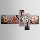 halpa Maisema maalaukset-Maalattu Abstrakti Mikä tahansa muoto Kangas Hang-Painted öljymaalaus Kodinsisustus 5 paneeli