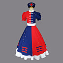 ieftine Bare de Prosop-Inspirat de Touhou Project Eirin Yagokoro Video Joc Costume Cosplay Costume Cosplay / Rochii Bloc Culoare Manșon scurt Rochie / Centură / Pălărie Costume de Halloween