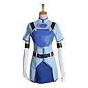 billige Syntetiske blondeparykker-Inspireret af Sword Art Online Sachi Anime Cosplay Kostumer Cosplay Kostumer Kortærmet Frakke Trøje Handsker Bælte Spidsrødder Brystplade