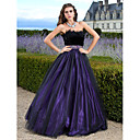 cheap Jewelry Sets-Ball Gown Strapless Floor Length Tulle Sparkle & Shine Prom / Formal Evening Dress with Beading / Feathers / Fur by TS Couture®