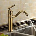 povoljno Slavine za umivaonik-Kuhinja pipa - One Hole Antique Brass Bar / Prep Munkalapra szerelhető Starinski / Jedan Ručka jedna rupa