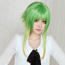 abordables Pelucas Cosplay-Pelucas de Cosplay Vocaloid Gumi Videojuegos de anime Pelucas de Cosplay 18 pulgada Fibra resistente al calor Mujer Pelucas de Halloween