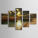 preiswerte Abstrakte Gemälde-handgemalte Ölgemälde Landschaft Landschaft übergroßen Menge von 5