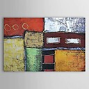 billige Antrekk til latindans-Hang malte oljemaleri Håndmalte - Abstrakt Klassisk Lerret