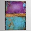 お買い得  抽象画-ハング塗装油絵 手描きの - 抽象画 クラシック キャンバス