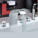 abordables Pelucas para Disfraz-Grifo de bañera - Moderno Cromo Bañera y ducha Válvula Cerámica