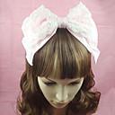 preiswerte Anime-Kostüme-Hasenmädchen Prinzessin Lolita Accessoires Kopfbedeckung Stirnband nette Art Damen Rosa Solide Schleife Kopfbedeckung Spitze Baumwolle Halloween Kostüme