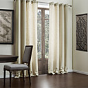 cheap Curtains Drapes-Curtains Drapes Living Room Solid Colored Polyester / Cotton Blend Faux Linen