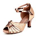 povoljno Cipele za latino plesove-Žene Plesne cipele Cipele za latino plesove / Standardni Kopča Štikle Potpetica po mjeri Moguće personalizirati Zlatna