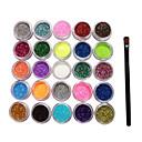 billige Selges kun i Europa-1 pcs Glitter & Poudre / Dekorasjonssett / Pudder Abstrakt / Klassisk Daglig / Plast