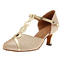 abordables Zapatos de Baile Moderno-Mujer Zapatos de Baile Moderno Sintéticos Tacones Alto Hebilla Tacón Personalizado Personalizables Zapatos de baile Dorado / Plateado