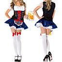 preiswerte Einbauleuchten-Oktoberfest Bayerisch Cosplay Kostüme Party Kostüme Damen Halloween Karneval Silvester Fest / Feiertage Polyester Karneval Kostüme Spitze