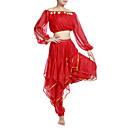 povoljno Odjeća za latino plesove-Trbušni ples Outfits Žene Šifon Perlica / Šljokice / Kovanice 7.87inch (20cm) Prirodno / Seksi blagdanski kostimi
