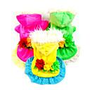 billige Pet juledragter-Hund Kjoler Hundetøj Blomster / botanik Gul Rose Grøn Dun Kostume For kæledyr Cosplay