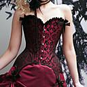halpa Vanhan maailman asut-Korsetti Gothic Lolita Punainen Polyesteri Puvut