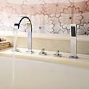 זול ברזים לחדר האמבטיה-ברז לאמבטיה - עכשווי כרום אמבט רומאי שסתום קרמי
