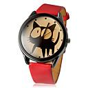preiswerte Modische Uhren-Damen Armbanduhr Quartz Armbanduhren für den Alltag PU Band Analog Zeichentrick Modisch Schwarz / Weiß / Rot - Weiß Schwarz Rot Ein Jahr Batterielebensdauer / SSUO LR626