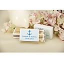 hesapli Düğün Dekorasyonları-Kişiselleştirilmiş Kibrit Kutuları Sert Kart Kağıdı / Karışık Materyal Düğün Süslemeleri Düğün Partisi Kumsal Teması / Klasik Tema Yaz / Tüm Mevsimler