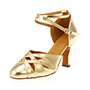 cheap Modern Shoes-Women's Modern Shoes Leatherette Heel Customized Heel Customizable Dance Shoes Gold