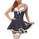 preiswerte Kostüme für Erwachsene-Karriere Kostüme Seefahrer Cosplay Kostüme Party Kostüme Damen Marineuniformen Halloween Karneval Fest / Feiertage Halloween Kostüme Austattungen Schwarz Patchwork