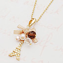 cheap LED Recessed Lights-Women's Pendant Necklace - Imitation Diamond Tower Ladies, Personalized, Luxury, Fashion Golden Bowknot Necklace Jewelry For Party, Daily