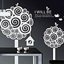 hesapli Dövme Transferleri ve Gereçleri-Botanik Duvar Etiketler Uçak Duvar Çıkartmaları Dekoratif Duvar Çıkartmaları, Vinil Ev dekorasyonu Duvar Çıkartması Duvar
