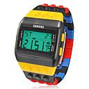 preiswerte Modische Uhren-Herrn Armbanduhr / Digitaluhr Alarm / Kalender / Chronograph Caucho Band Charme Mehrfarbig / LCD / Zwei jahr / Maxell CR2025