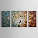 povoljno Ulja na platnu-Hang oslikana uljanim bojama Ručno oslikana - Cvjetni / Botanički Rustikalni Platno