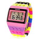 hesapli Moda Saatler-Kadın's Dijital saat Dijital Alarm Takvim Kronograf Plastic Bant Dijital İhtişam Moda Pembe / LCD