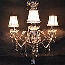 cheap Chandeliers-QINGMING® 3-Light Candle-style Chandelier Uplight Electroplated Fabric Crystal 110-120V / 220-240V Bulb Not Included / E12 / E14