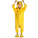 cheap Kigurumi Pajamas-Kid's Kigurumi Pajamas Pika Pika Animal Onesie Pajamas Flannel Toison Yellow Cosplay For Boys and Girls Animal Sleepwear Cartoon Festival / Holiday Costumes