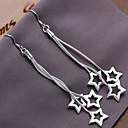 preiswerte Ohrringe-Damen Tropfen-Ohrringe - Stern Silber Für