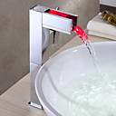 povoljno Slavine za umivaonik-kupaonica sudoper slavina s promjenom boje LED vodopad slavina (visok)