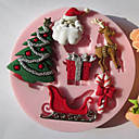 cheap Holiday Deals-Bakeware tools Silicone Eco-friendly / Christmas For Cake / For Cookie / For Pie 3D Cartoon Mold 1pc