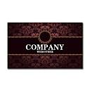 preiswerte Customized Karten-200pcs Personalisierte 2 Seiten gedruckt Matte Film Court-Art-Blumen-Muster-Visitenkarte