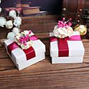 olcso Köszönetajándék tartók-Kreatív Kocka alakú/köb Anyag Favor Holder val vel Szalagok Minta Virág Ajándék dobozok Mások Esküvői kiegészítők