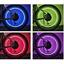 رخيصةأون مصابيح الدراجة العاكسة-اضواء الدراجة / أضواء عجلة LED اضواء الدراجة ركوب الدراجة بطاريات خلية البطارية أخضر - FJQXZ / IPX-4