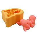 billige Bakeformer-Bakeware verktøy Silikon Økovennlig / Bursdag / GDS Kake / Til Småkake / Pai sovende baby Bakeform 1pc