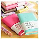 baratos Papéis e Cadernos-cara mini notebook sorriso colorido diário (cor aleatória)